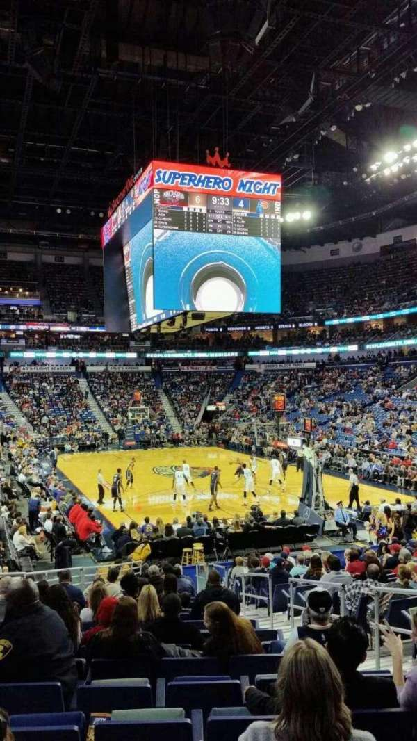 Smoothie King Center, section: 108, row: 19, seat: 5