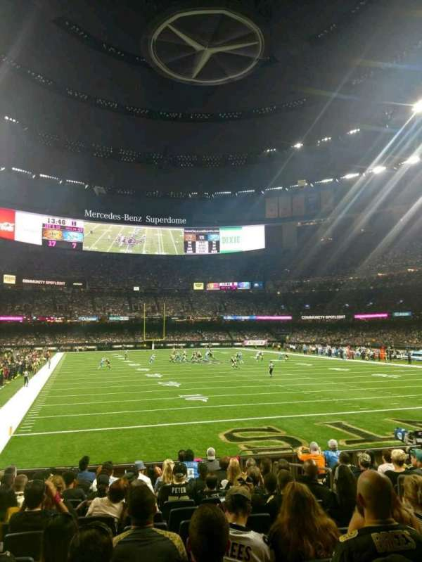 Caesars Superdome, section: 130, row: 12, seat: 5