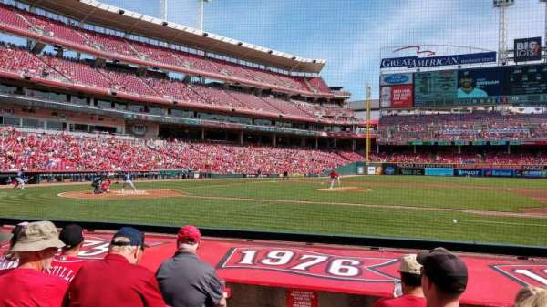 Great American Ball Park, section: 130, row: J, seat: 14