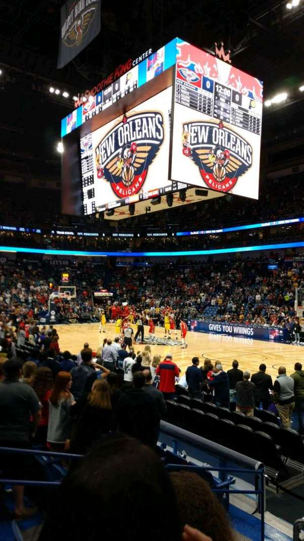 Smoothie King Center, section: 122, row: 11, seat: 1