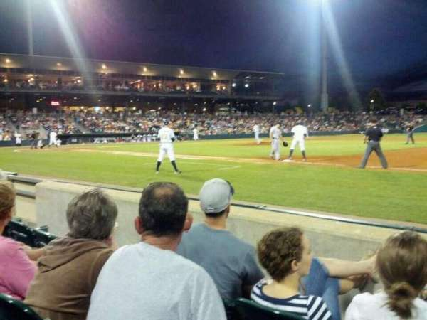 Montgomery Riverwalk Stadium, section: 118, row: 3, seat: 2
