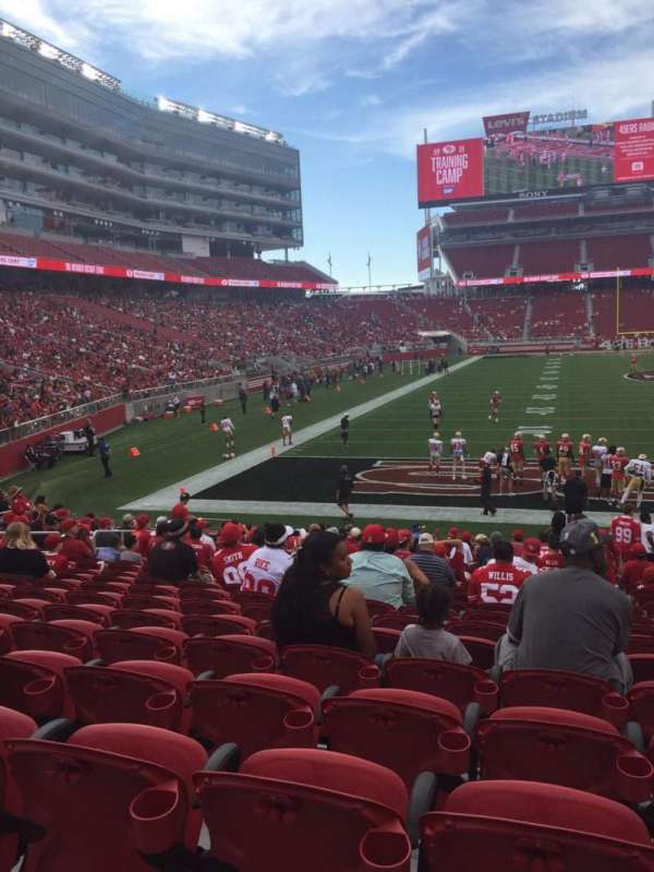 Levi's Stadium, section: 128, row: 16, seat: 8