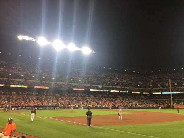 Oriole Park at Camden Yards, section: 14, row: 3, seat: 1