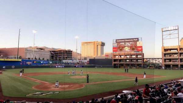 Southwest University Park, section: 111, row: P, seat: 12-12