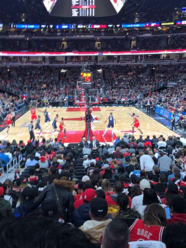 United Center, section: 106, row: 14, seat: 7