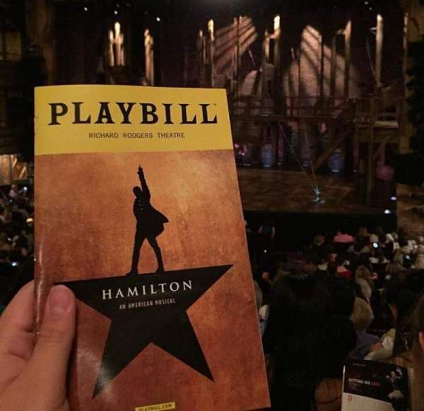 Richard Rodgers Theatre, section: Orchestra R, row: R, seat: 12