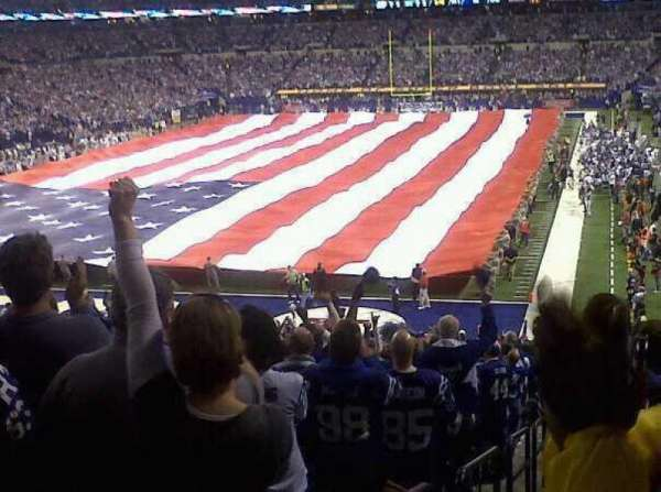 Lucas Oil Stadium, section: End zone, row: 21, seat: 6