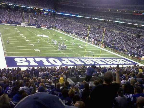 Lucas Oil Stadium, section: End Zone, row: 21