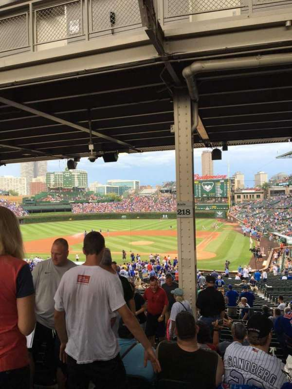 Wrigley Field, section: 218, row: 15, seat: 4