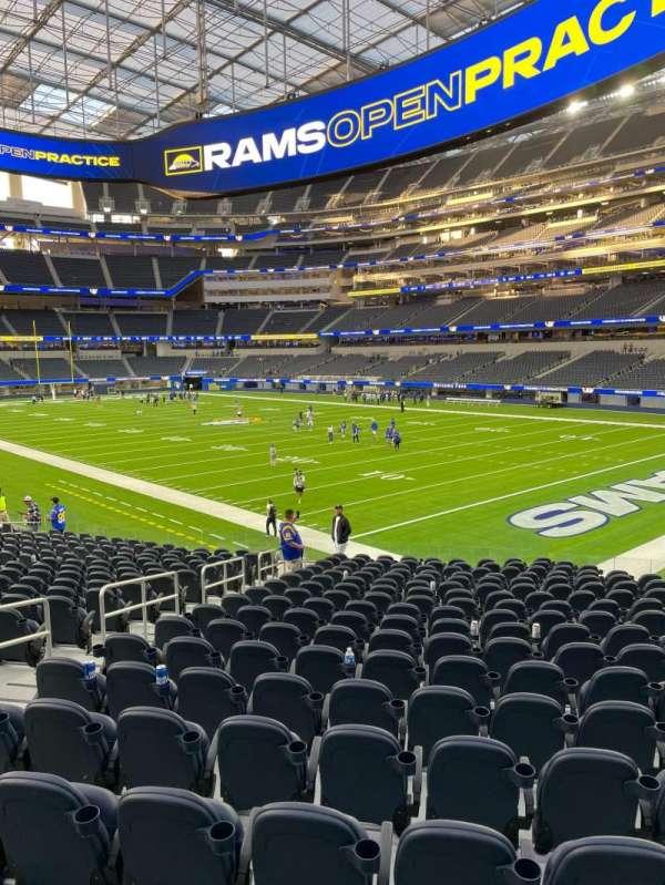 SoFi Stadium, section: C117, row: 19, seat: 11/12