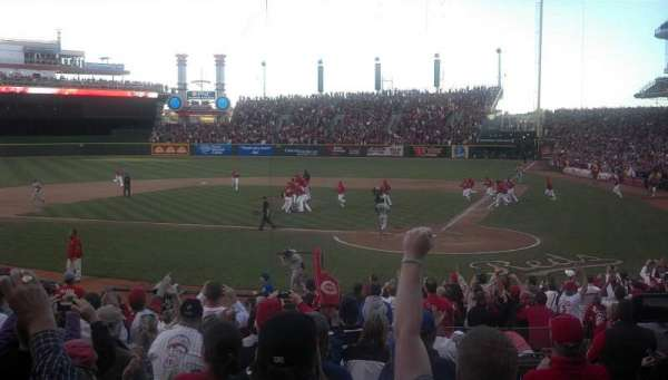 Great American Ball Park, section: 120, row: V, seat: 3