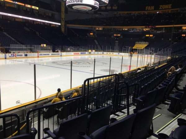 Bridgestone Arena, section: 103, row: Jj, seat: 5