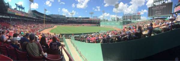 Fenway Park, section: Right Field Box, row: TT, seat: 1