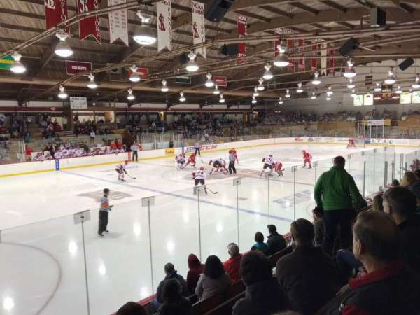 Appleton Arena, row: G, seat: 17