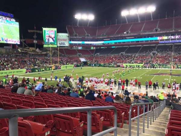 Raymond James Stadium, section: 111, row: AA, seat: 1