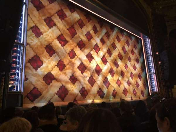 Brooks Atkinson Theatre, section: Orchestra L, row: G, seat: 15