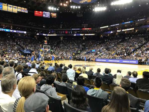 Oracle Arena, section: 13, row: A4, seat: 7