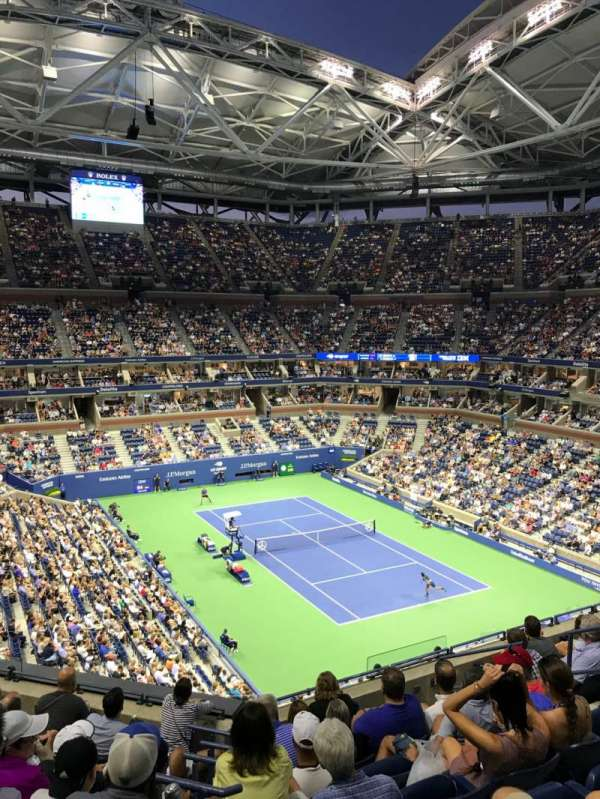 Arthur Ashe Stadium, section: 134, row: H, seat: 8