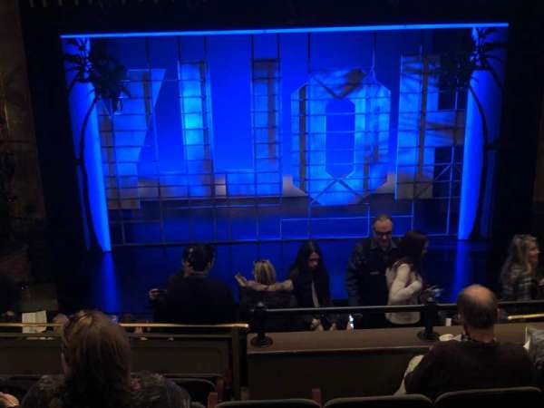 Nederlander Theatre, section: Mezzanine C, row: N, seat: 110