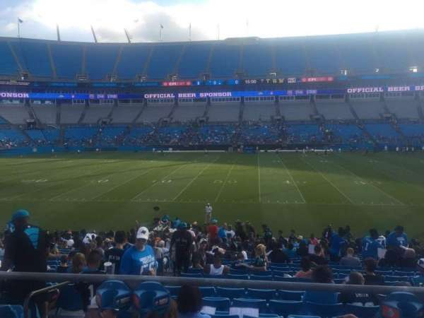 Bank of America Stadium, section: 111, row: 21, seat: 21