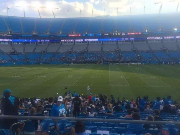 Bank of America Stadium, section: 111, seat: 18