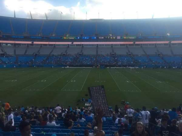 Bank of America Stadium, section: 111, row: 14, seat: 17