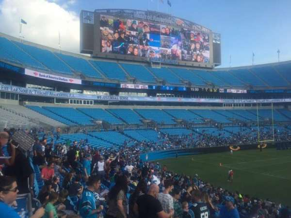 Bank of America Stadium, section: 112, row: 21, seat: 20