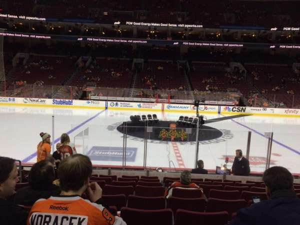Wells Fargo Center, section: 113, row: 9, seat: 12