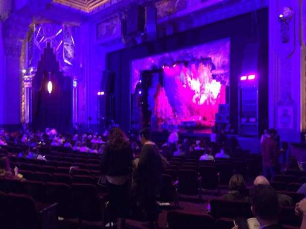 Hollywood Pantages Theatre, section: Orchestra R, row: V, seat: 110