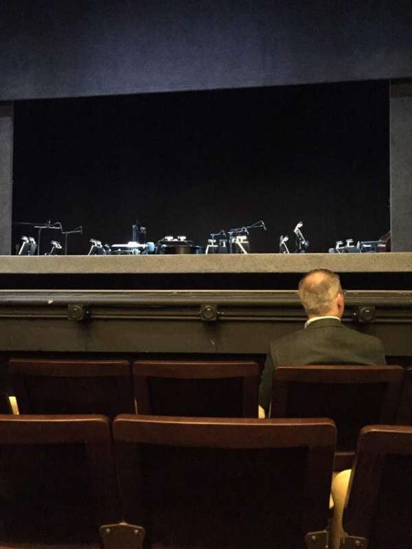 Hudson Theatre, section: Orchestra, row: D, seat: 112