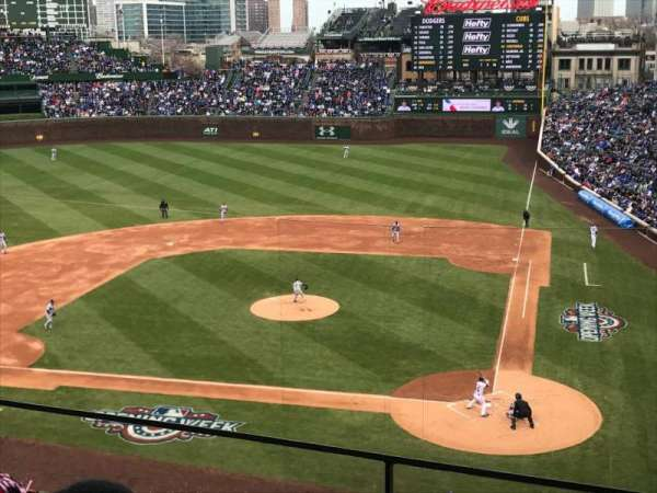 Wrigley Field, section: 313L, row: 2, seat: 16
