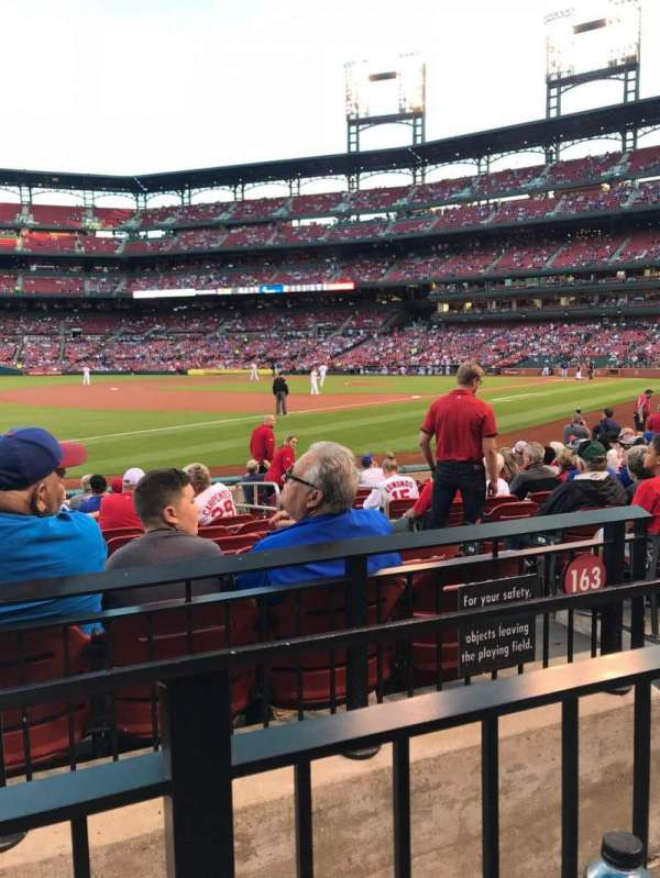 Busch Stadium, section: 163, row: 1, seat: 3