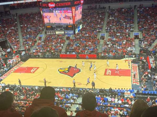 KFC Yum! Center, section: 322, row: C, seat: 10