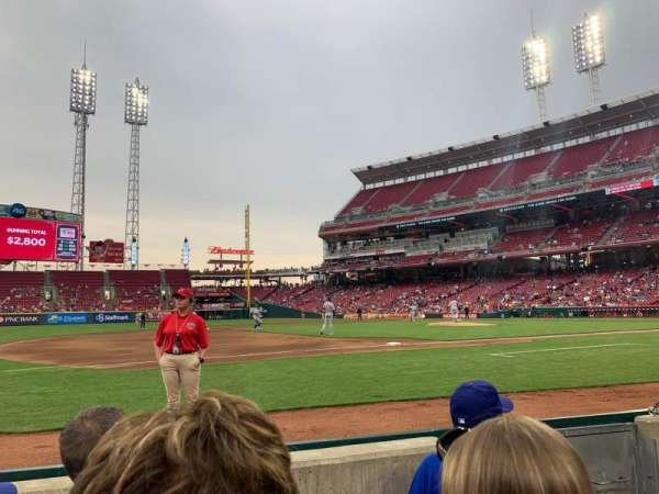 Great American Ball Park, section: 114, row: C, seat: 3