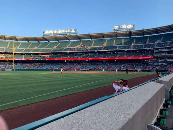 Angel Stadium, section: F106, row: A, seat: 11