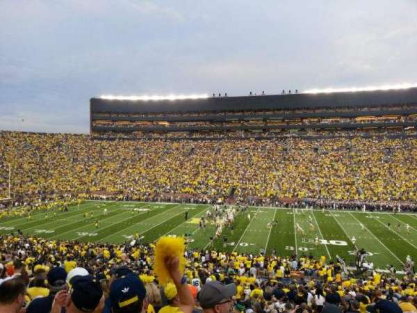 Michigan Stadium, section: 22, row: 58, seat: 20