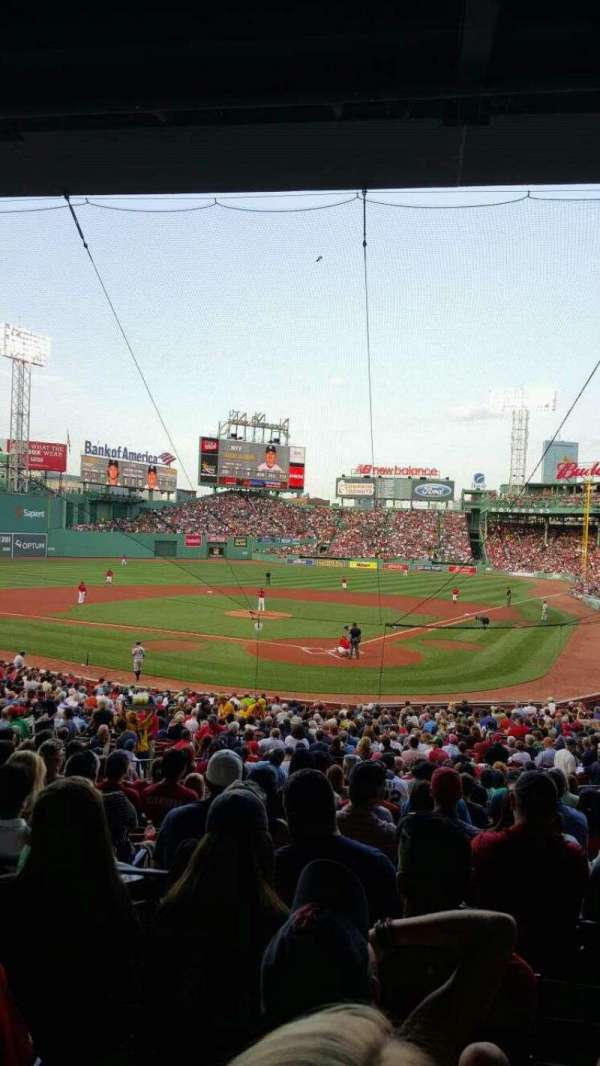 Fenway Park, section: Grandstand 22, row: 5, seat: 12
