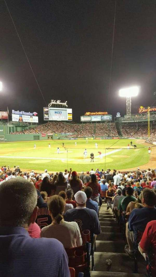 Fenway Park, section: Loge Box 133, row: NN, seat: 12