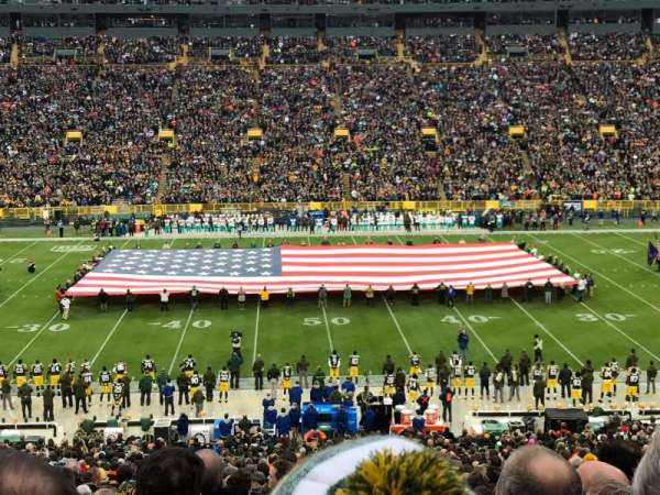 Lambeau Field, section: 120, row: 55, seat: 5,6