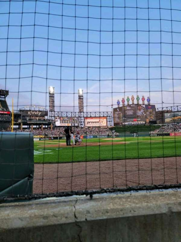 Guaranteed Rate Field, section: 131, row: 1, seat: 1