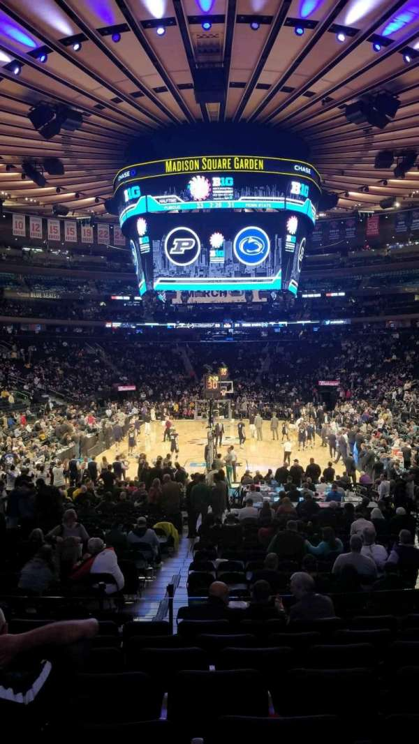 Madison Square Garden, section: 102, row: 13, seat: 13