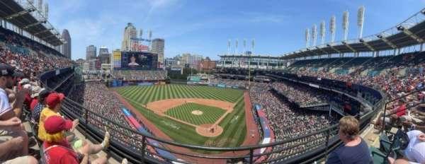 Progressive Field, section: 456, row: B, seat: 8
