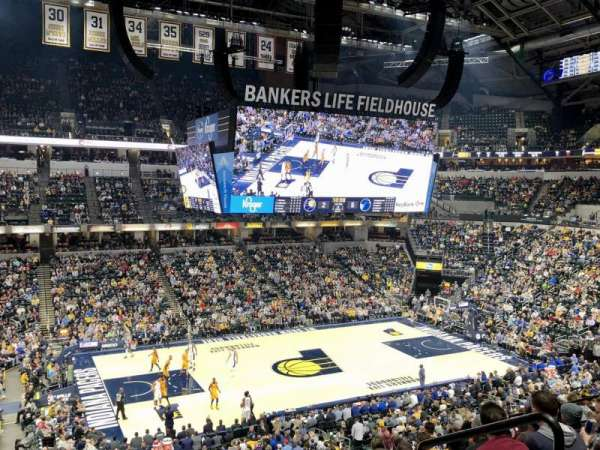 Bankers Life Fieldhouse, section: 106, row: 9, seat: 4