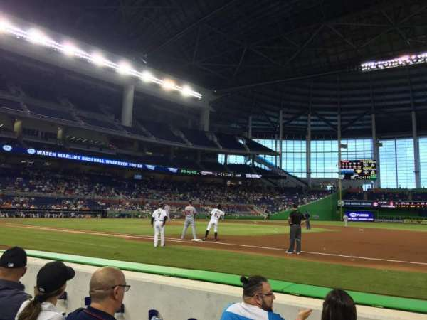 Marlins Park, section: FL3, row: DD, seat: 3