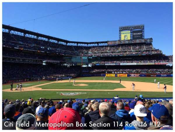Citi Field, section: 114, row: 16, seat: 12