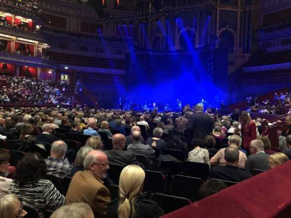 Royal Albert Hall, section: Stalls, row: L, seat: 71