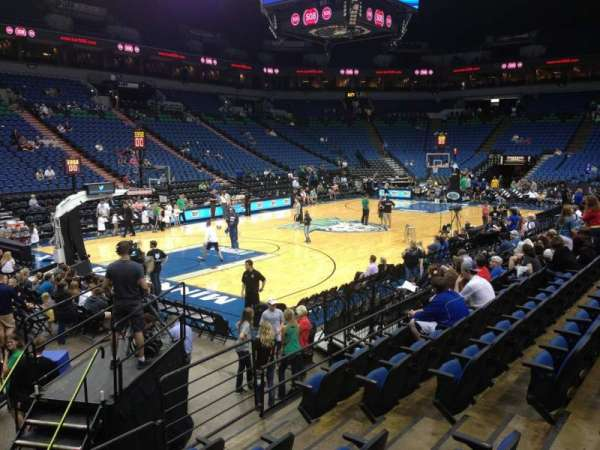 Target Center, section: 116, row: L, seat: 8
