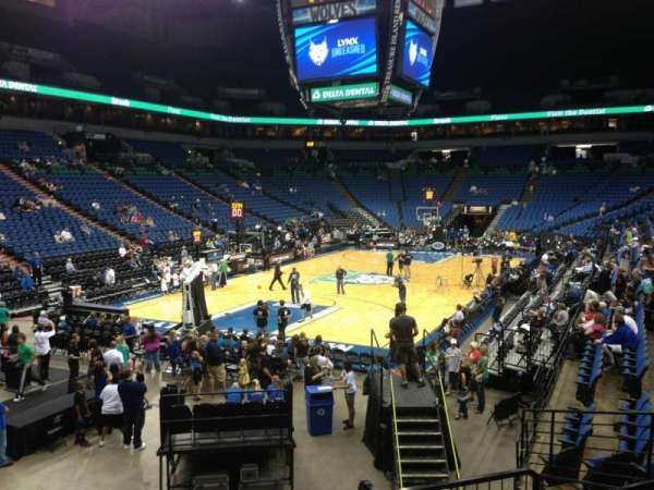 Target Center, section: 118, row: L, seat: 8