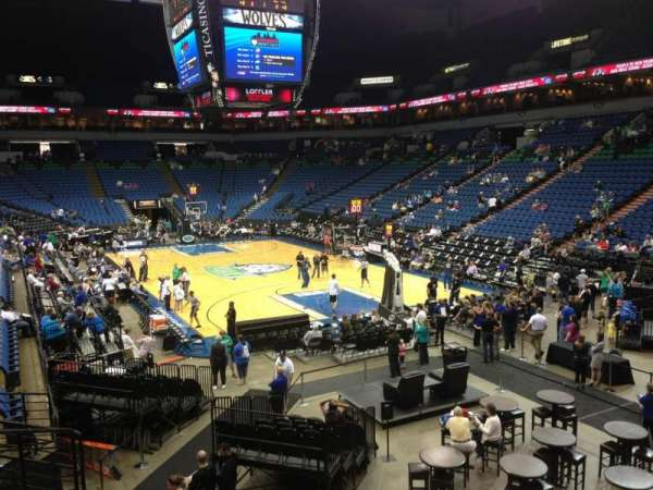 Target Center, section: 124, row: L, seat: 11