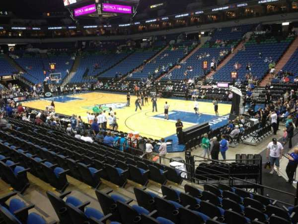Target Center, section: 126, row: L, seat: 9
